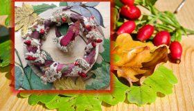 Podzimní věnec ze slaného těsta